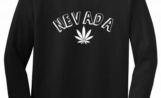 Marijuana Weed Nevada USA State NV Long Sleeve T-Shirt 1
