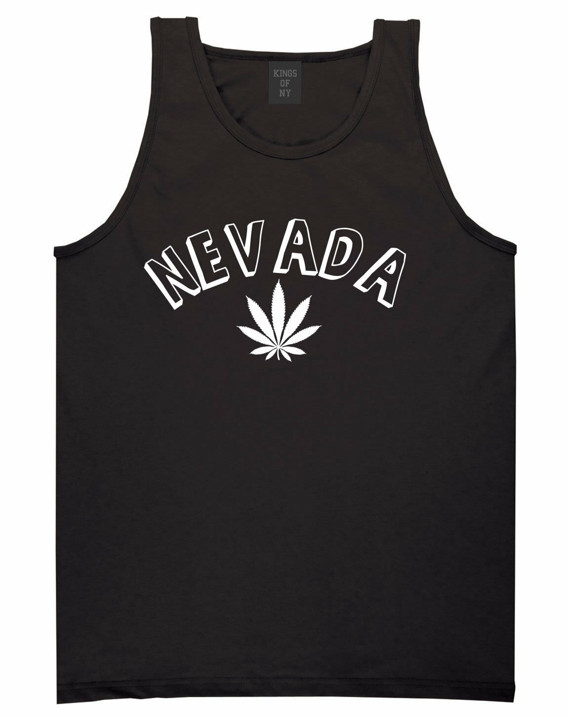 Marijuana Weed Nevada USA State NV Tank Top T-Shirt 1