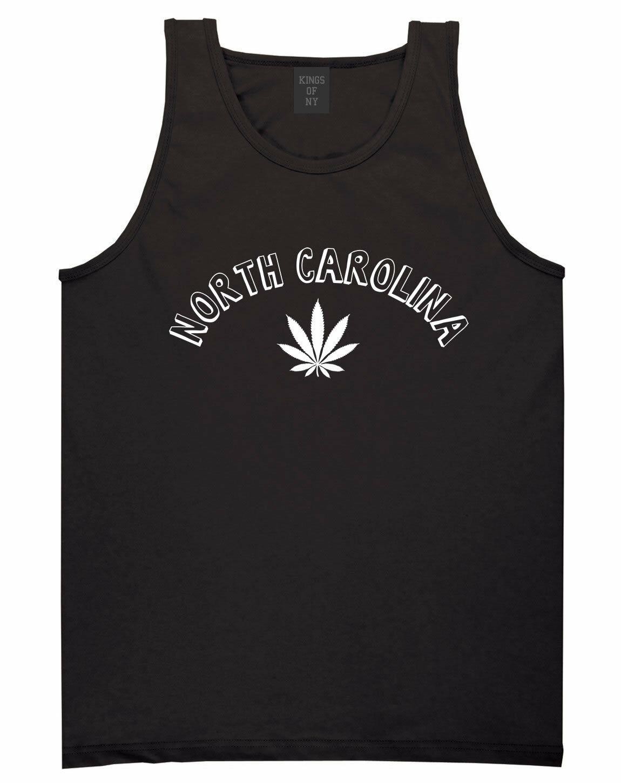 Marijuana Weed North Carolina USA State NC Tank Top T-Shirt 1