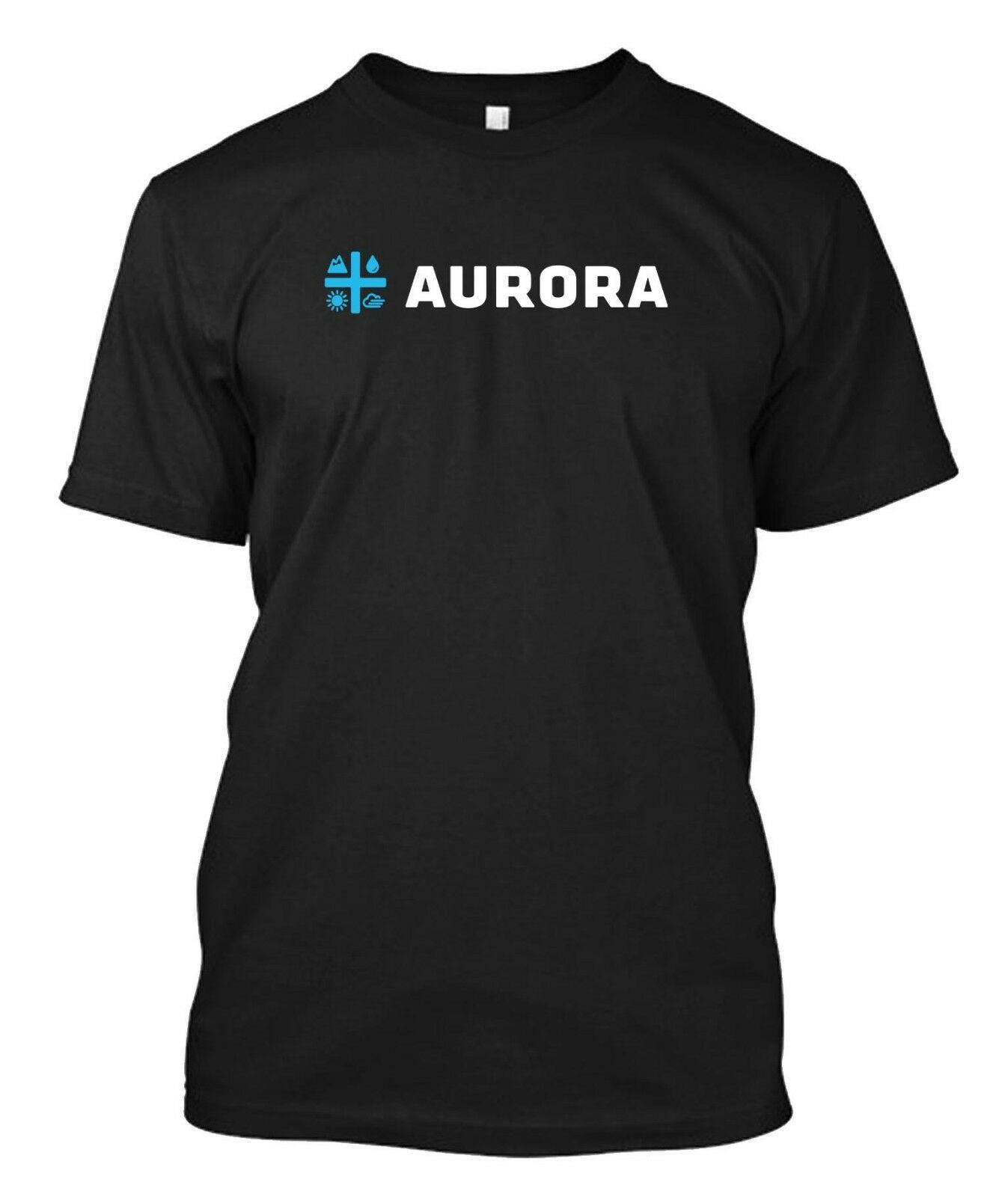 Aurora Cannabis Inc Cannabis Weed Marijuana Stoner Company - custom t-shirt tee 1
