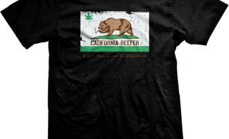 California Reefer Grizzly Bear Weed Pot Leaf Toke 420 Ganja Smoke Mens T-shirt 10