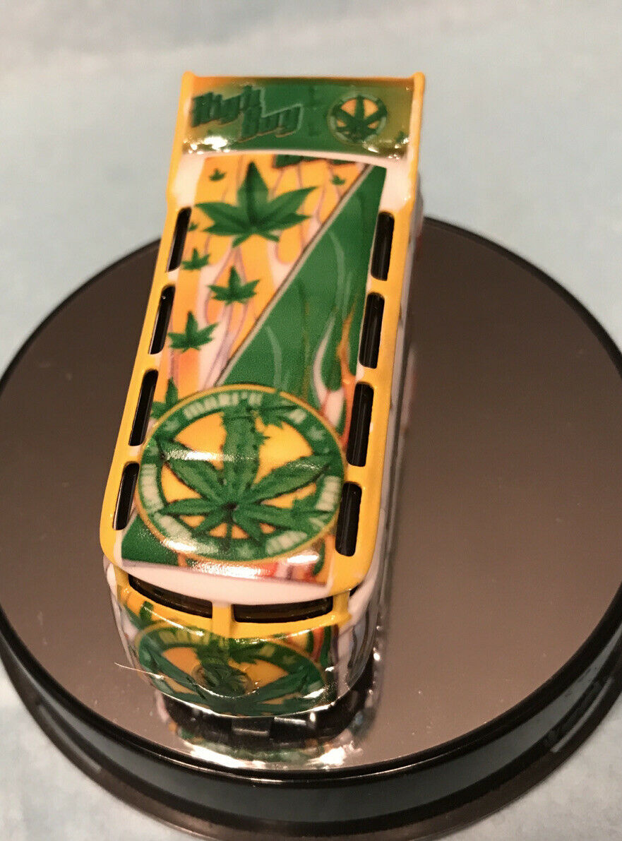 Hotwheels VW DRAG BUS HighBoy Marijuana's Vw Bus , Real Riders , It's A Custom 1