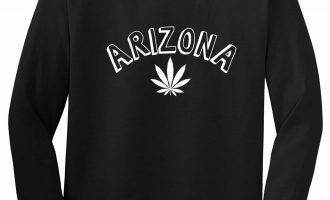 Marijuana Weed Arizona USA State AZ Long Sleeve T-Shirt 13