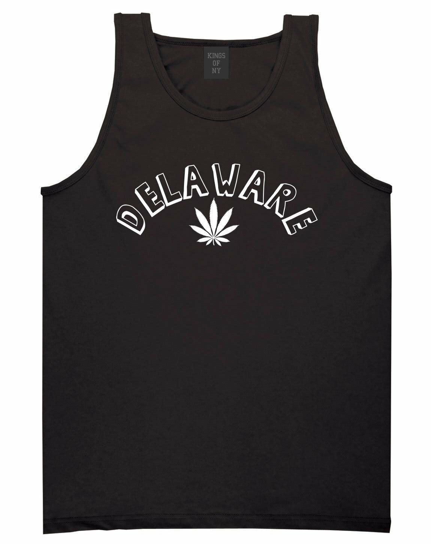 Marijuana Weed Delaware USA State DE Tank Top T-Shirt 1