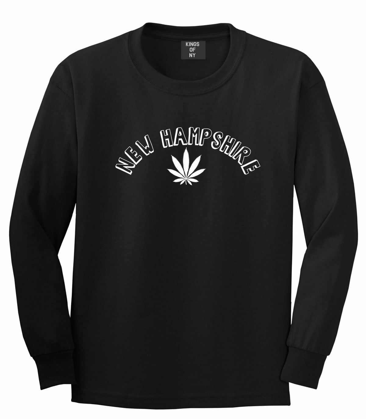 Marijuana Weed New Hampshire USA State NH Long Sleeve T-Shirt 1