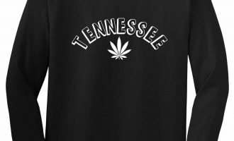 Marijuana Weed Tennessee USA State TN Long Sleeve T-Shirt 9