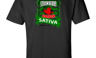 Strawberry Cough 420 Strain Logo Cannabis T-Shirt Stoner Hippie Marijuana Weed 12