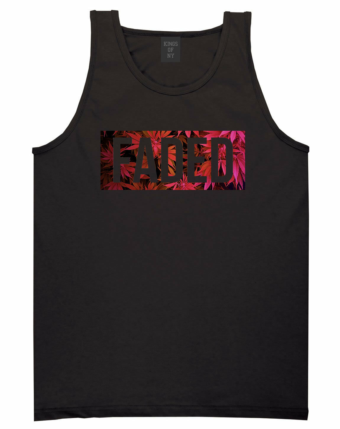 Kings Of NY Faded Pink Weed Marijuana Print Tank Top Jersey 1