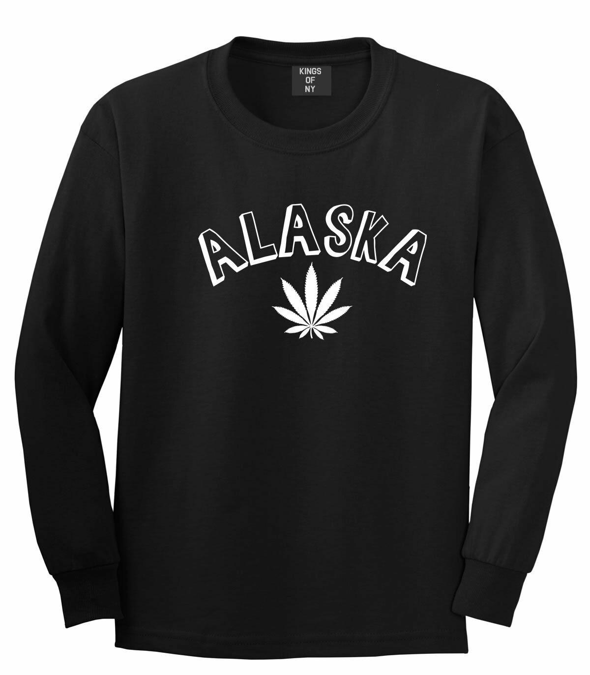 Marijuana Weed Alaska USA State AK Long Sleeve T-Shirt 1