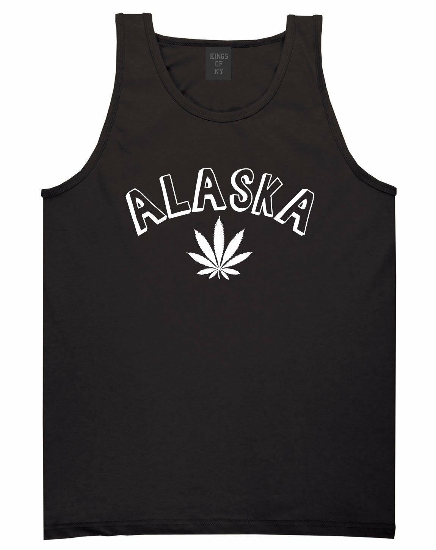 Marijuana Weed Alaska USA State AK Tank Top T-Shirt 1