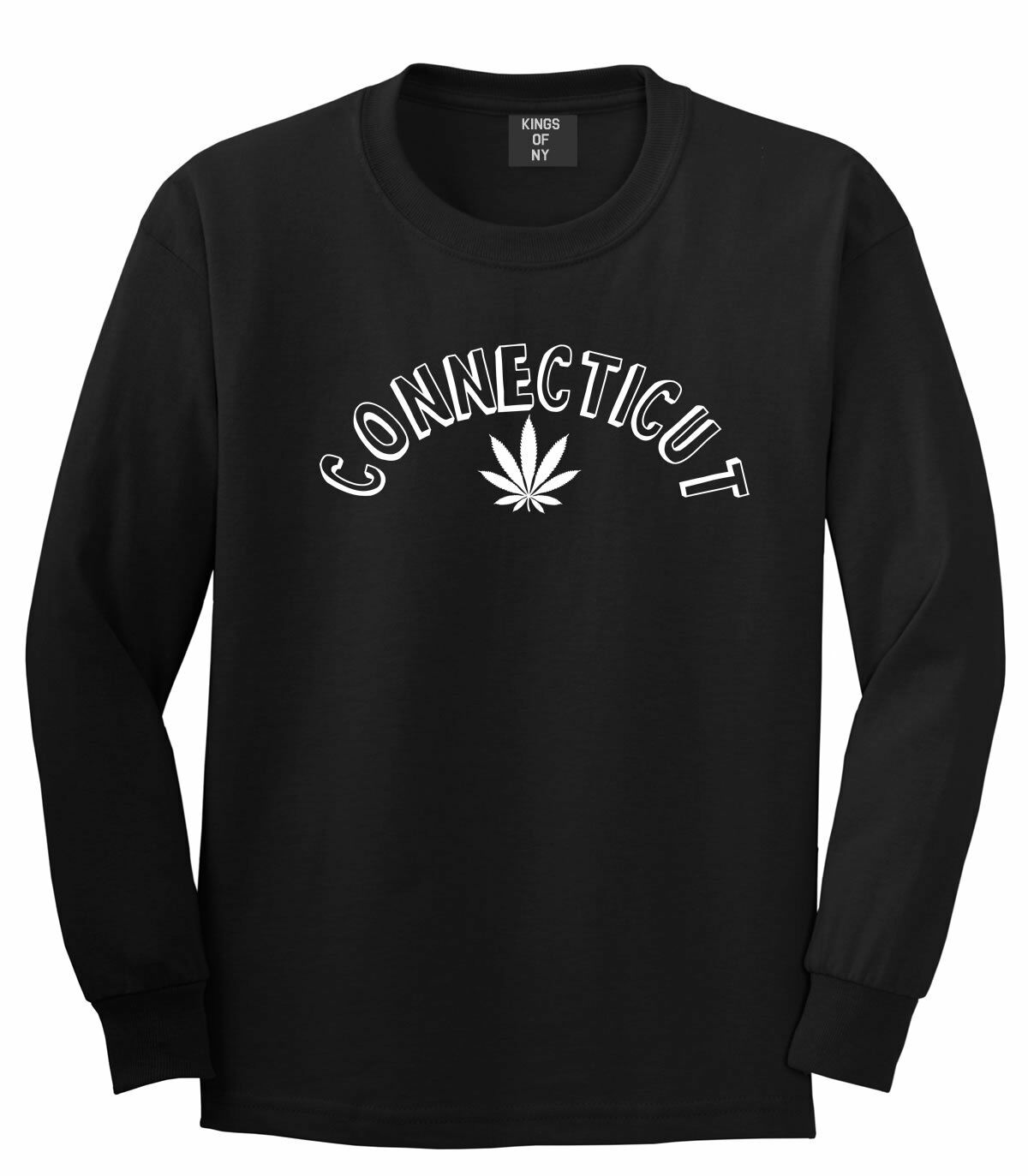 Marijuana Weed Connecticut USA State CT Long Sleeve T-Shirt 1
