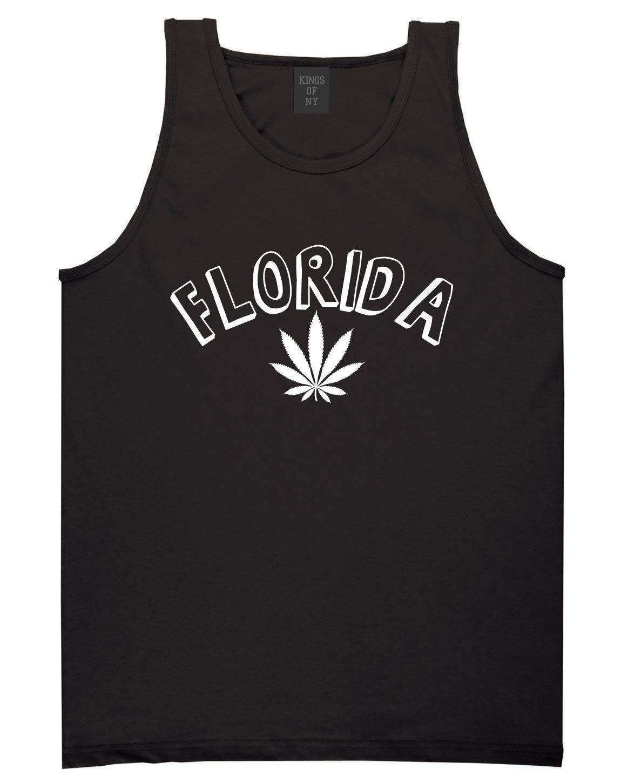 Marijuana Weed Florida USA State FL Tank Top T-Shirt 1