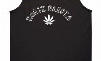 Marijuana Weed North Dakota USA State ND Tank Top T-Shirt 5