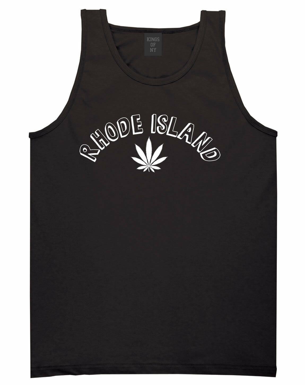 Marijuana Weed Rhode Islannd USA State RI Tank Top T-Shirt 1