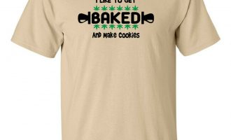 I Like To Get Baked And Make Cookies Cannabis T-Shirt Hippie Marijuana Weed 420 14