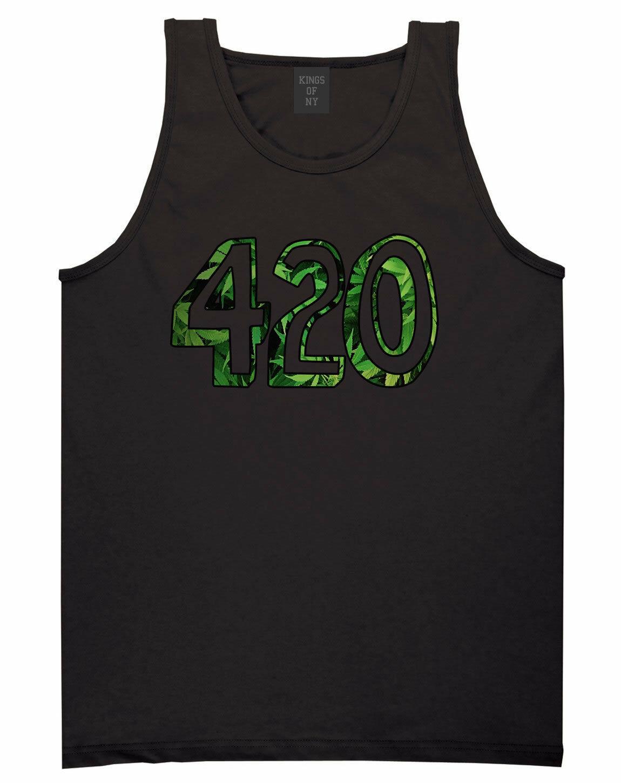 Kings Of NY 420 DTG Weed Marijuana Tank Top Jersey 1
