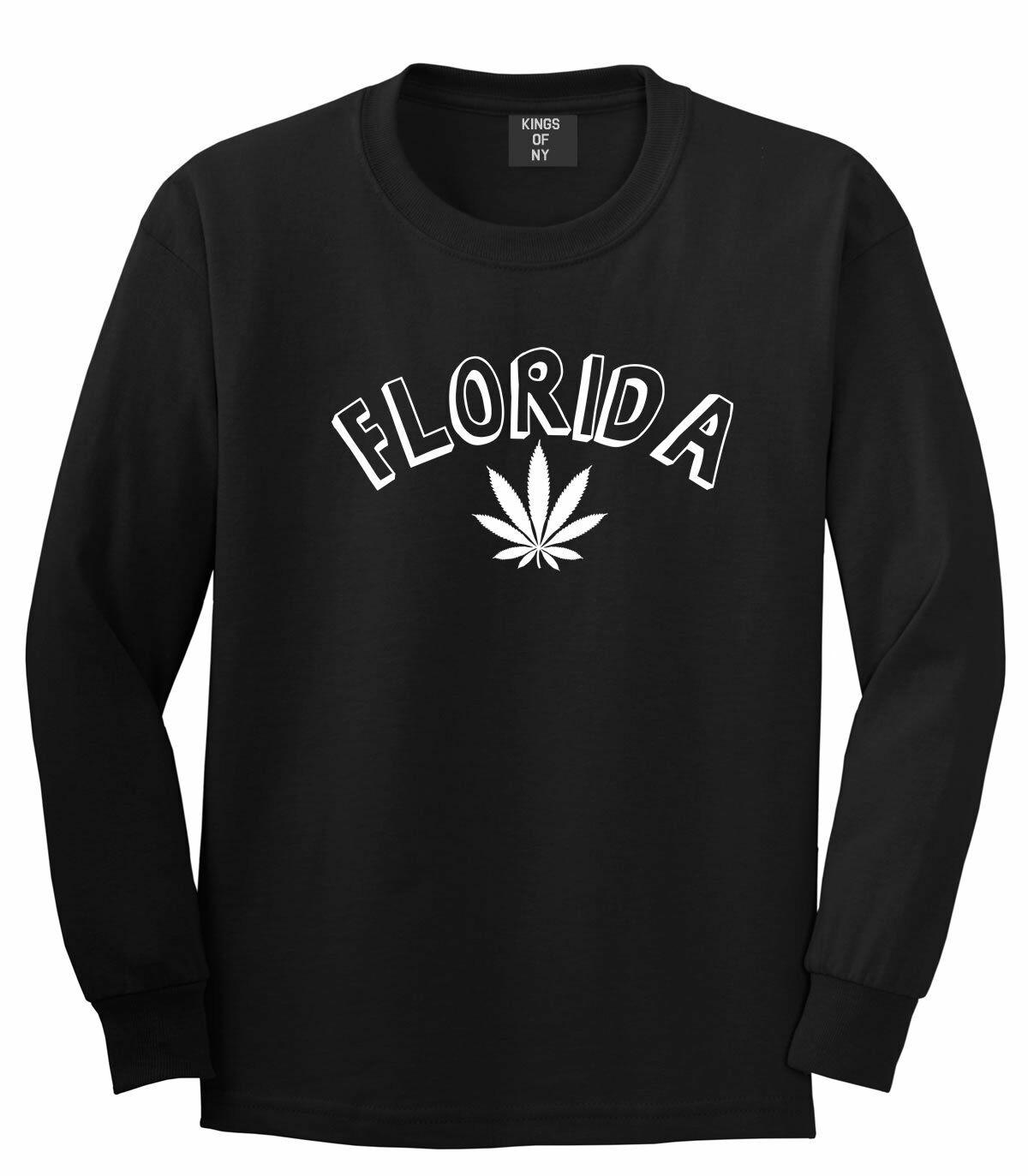 Marijuana Weed Florida USA State FL Long Sleeve T-Shirt 1