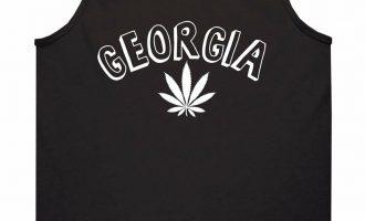Marijuana Weed Georgia USA State GA Tank Top T-Shirt 3