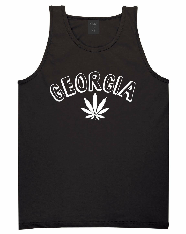 Marijuana Weed Georgia USA State GA Tank Top T-Shirt 1