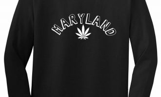 Marijuana Weed Maryland USA State MD Long Sleeve T-Shirt 4