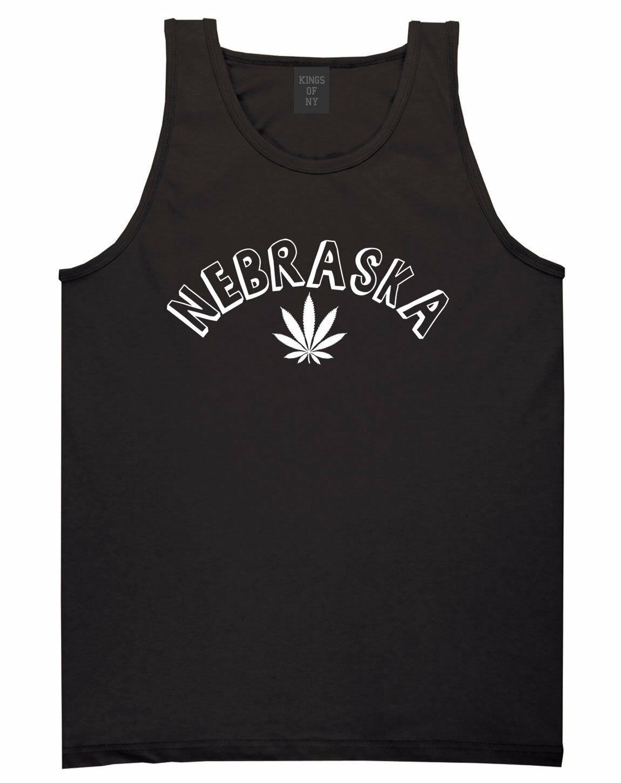 Marijuana Weed Nebraska USA State NE Tank Top T-Shirt 1