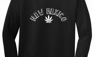 Marijuana Weed New Mexico USA State NM Long Sleeve T-Shirt 2