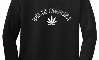 Marijuana Weed North Carolina USA State NC Long Sleeve T-Shirt 1
