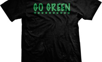 Go Green Marijuana Leaves Pot Weed Legalize Drugs Stoner Mens T-shirt 1