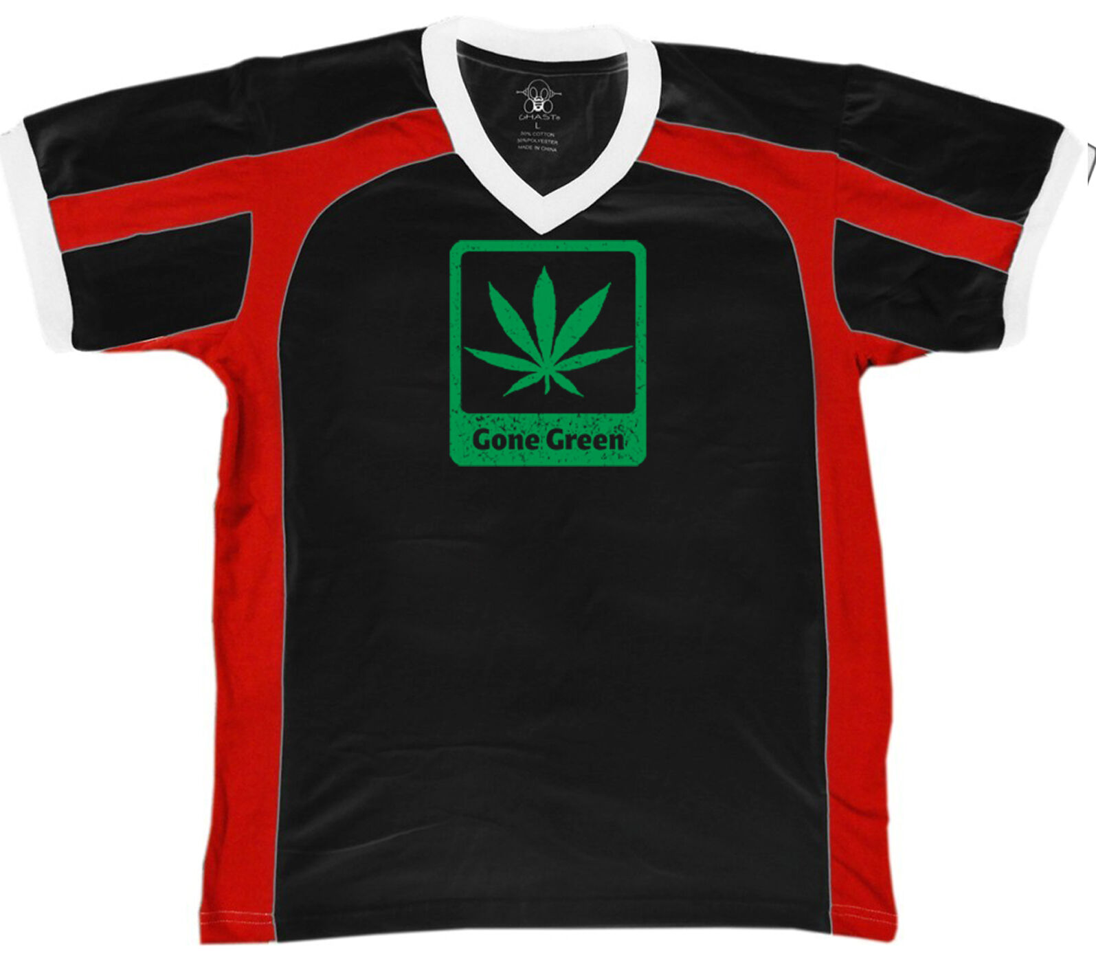 Gone Green Stoner Weed Mary J Marijuana Toke Blunt Funny Retro Sport T-shirt 1