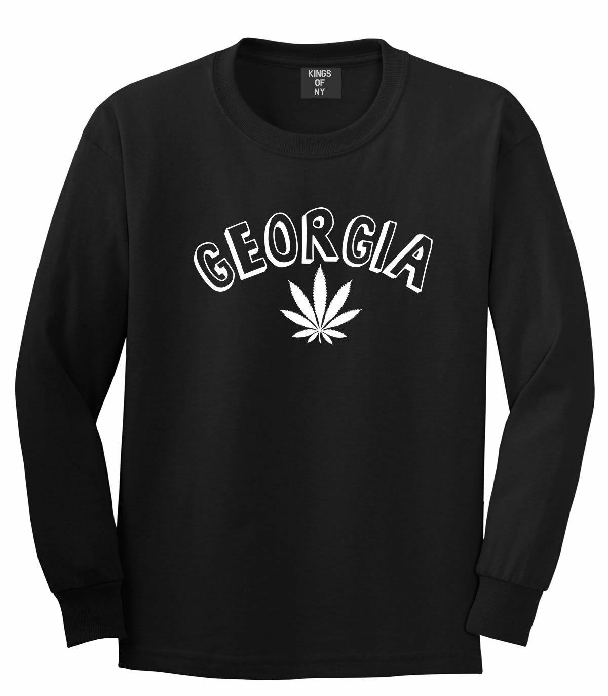 Marijuana Weed Georgia USA State GA Long Sleeve T-Shirt 1
