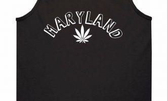 Marijuana Weed Maryland USA State MD Tank Top T-Shirt 4