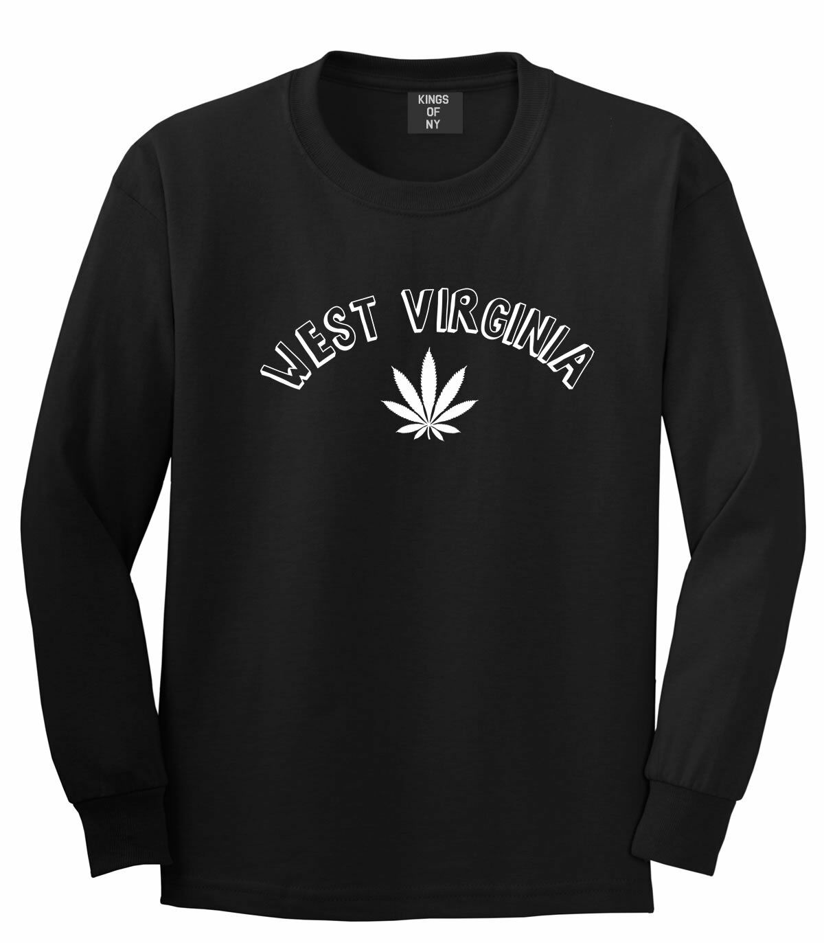 Marijuana Weed West Virginia USA State WV Long Sleeve T-Shirt 1