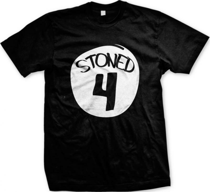 Stoned 4 Four Parody Funny Humor Pot Weed Marijuana 420 Ganja Mens T-shirt 1
