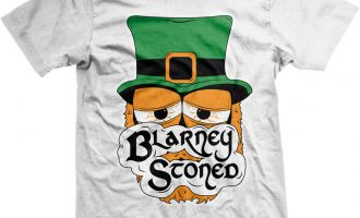 Blarney Stoned Irish Weed Marijuana Pot Smoke High Patrick's Day Men's T-Shirt 5