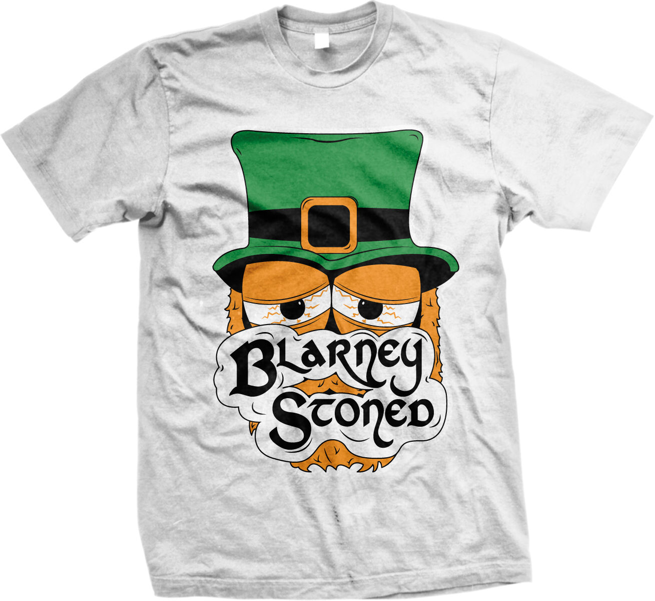 Blarney Stoned Irish Weed Marijuana Pot Smoke High Patrick's Day Men's T-Shirt 1
