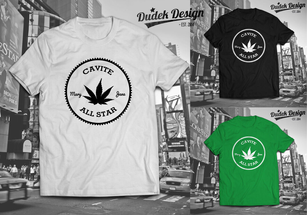 CAVITE ALL STAR T SHIRT ADDICTED DOPE CANNABIS 420 WIZ SMOKE KHALIFA MARIJUANA 1