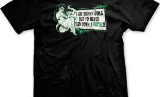 I Like Skinny Girls but I'd Never Turn Down a Fattie!! Blunt Weed Mens T-shirt 2