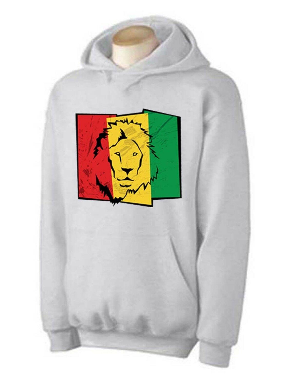 LION OF JUDAH FLAG HOODIE - rasta, reggae, bob marley, cannabis, marijuana 1