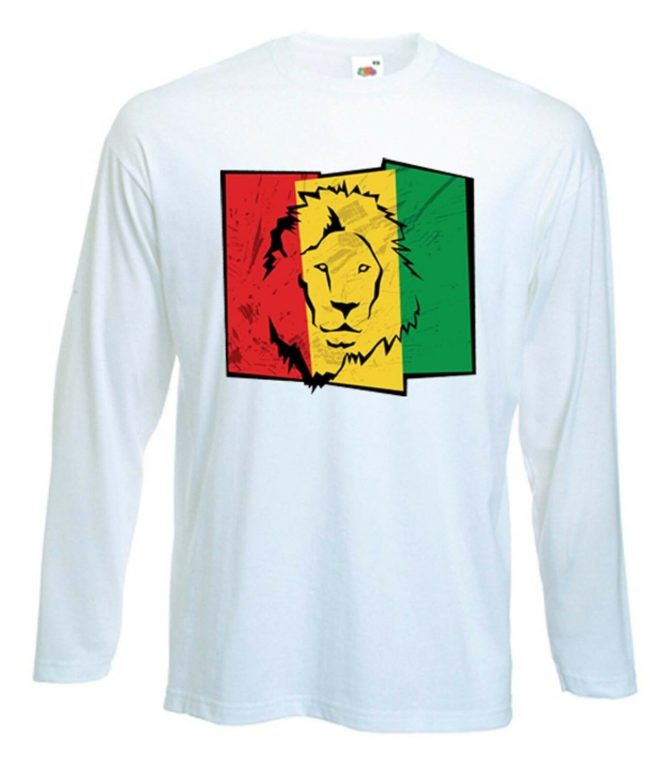 LION OF JUDAH FLAG LONG SLEEVE - rasta, reggae, bob marley, cannabis, marijuana 1