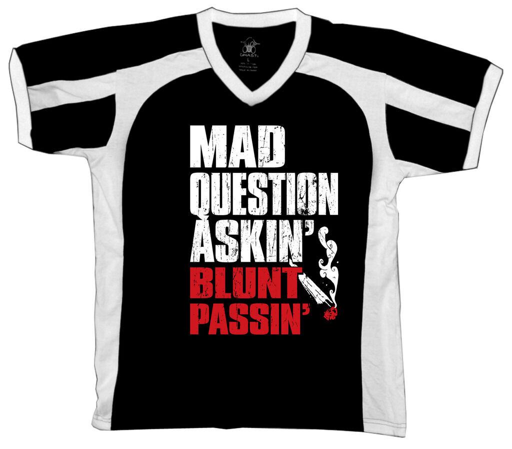 Mad Question Askin Blunt Passin Marijuana Pot Weed Stoner Retro Sport T-shirt 1