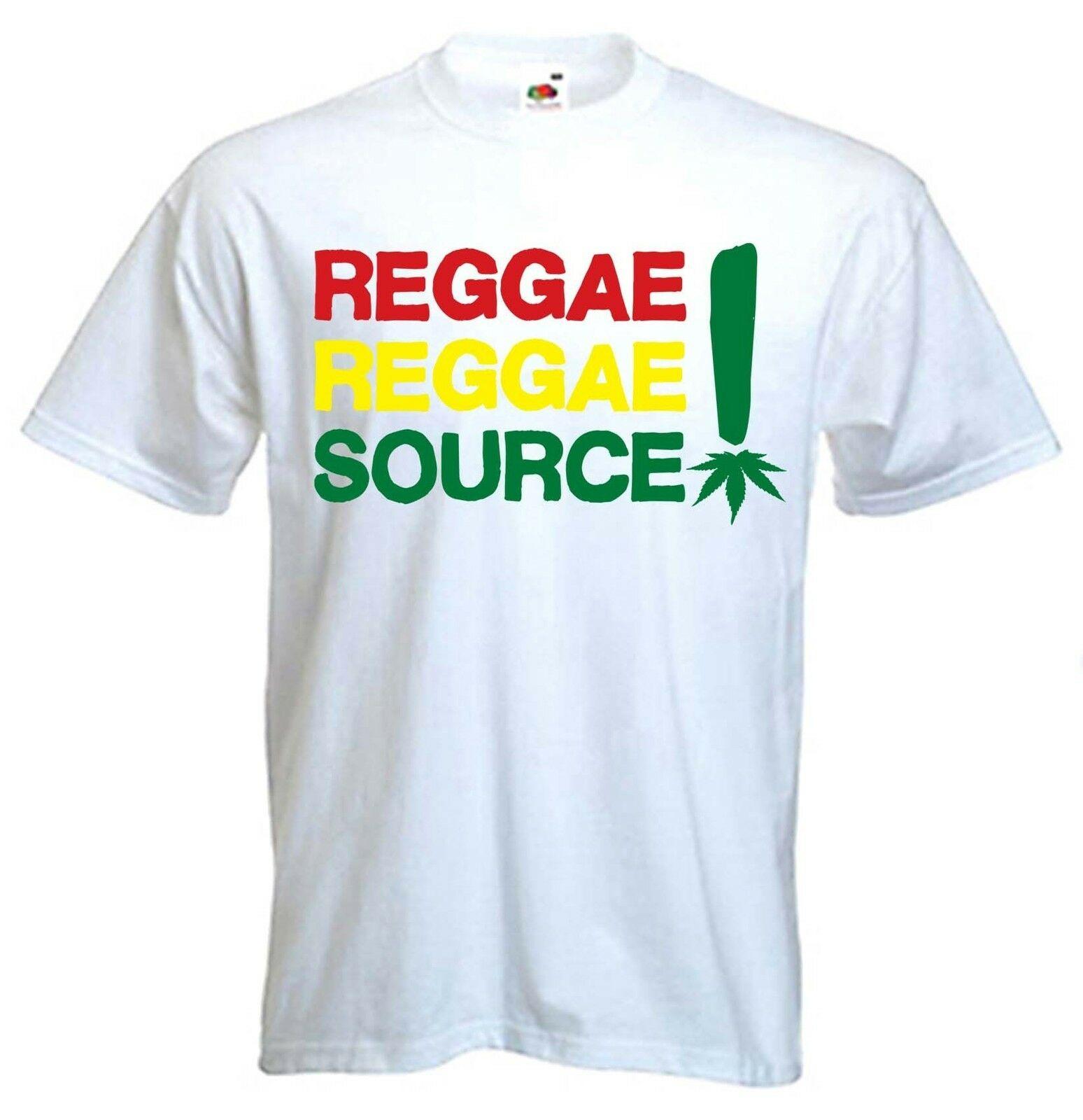 REGGAE REGGAE SOURCE T-SHIRT - Rastafarian Bob Marley Rasta Cannabis Marijuana 1