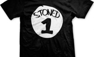 Stoned 1 One Parody Funny Humor Pot Weed Marijuana 420 Ganja Mens T-shirt 10