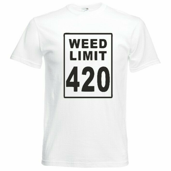 Weed Limit 420 Funny Mens Unisex T Shirt Small-5XL 2