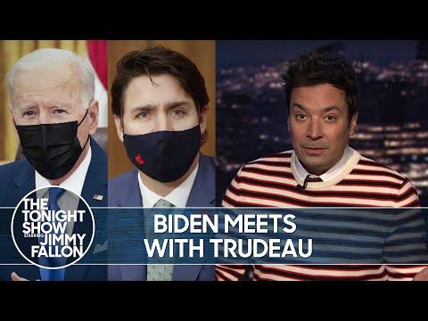 Biden Meets with Trudeau, New Jersey Legalizes Marijuana | The Tonight Show 1