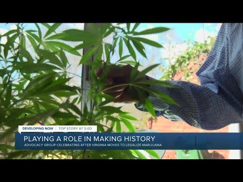 Marijuana advocates celebrating after Virginia votes to legalize it 1