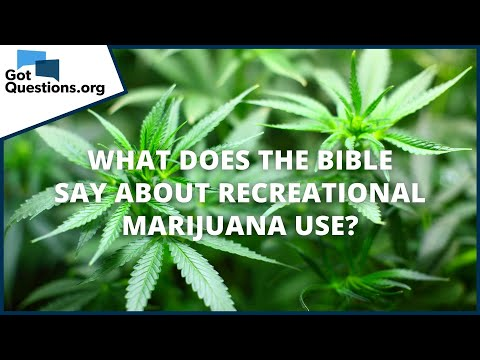 What does the Bible say about recreational marijuana use? | GotQuestions.org 1