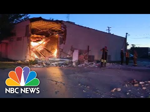 Watch: Truck Crashes Into Building, Uncovers Illegal Marijuana Operation 1